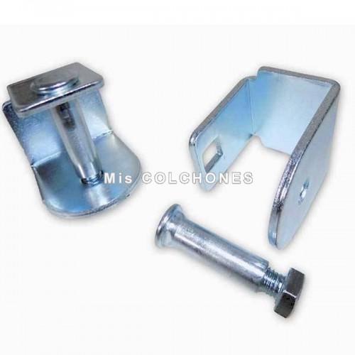 Pack 4 abrazaderas para somier de tubo 40x30