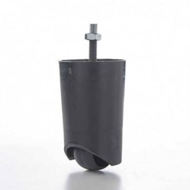 Pata PVC con rueda