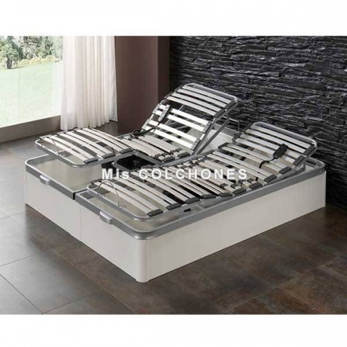 Canapé abatible con somier eléctrico.