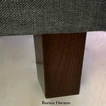 Pata madera cuadrada extra gruesa.