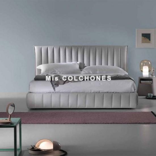 Cama con canapé abatible Darron de Dorelan tapizado en polipiel