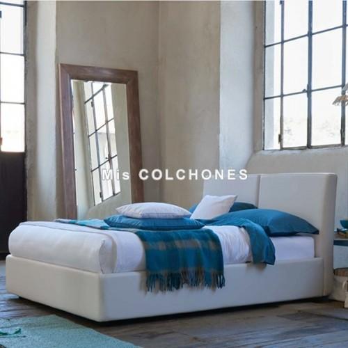 Cama Blogger con canapé abatible Textil Joint, Altura 104