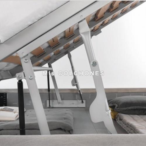 Canapé Cape con somier de láminas Tejido Atom
