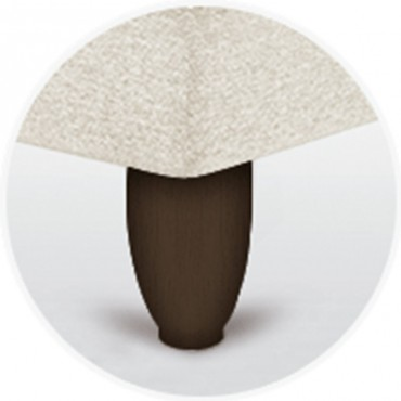 Pata para canapé oval 15 cm en madera sp