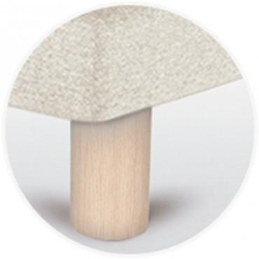 Pata para canapé cilíndrica 15 cm en madera de sonpura