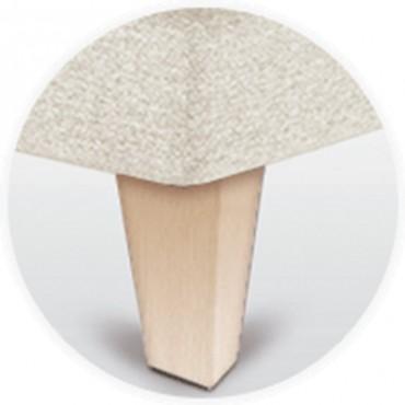 Pata para canapé piramidal del 15 cm en madera de sonpura