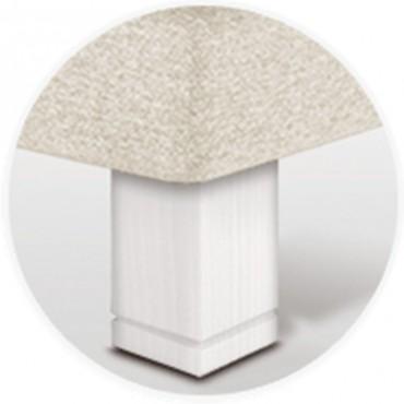 Pata para canapé cuadrada 15 cm en madera de sonpura