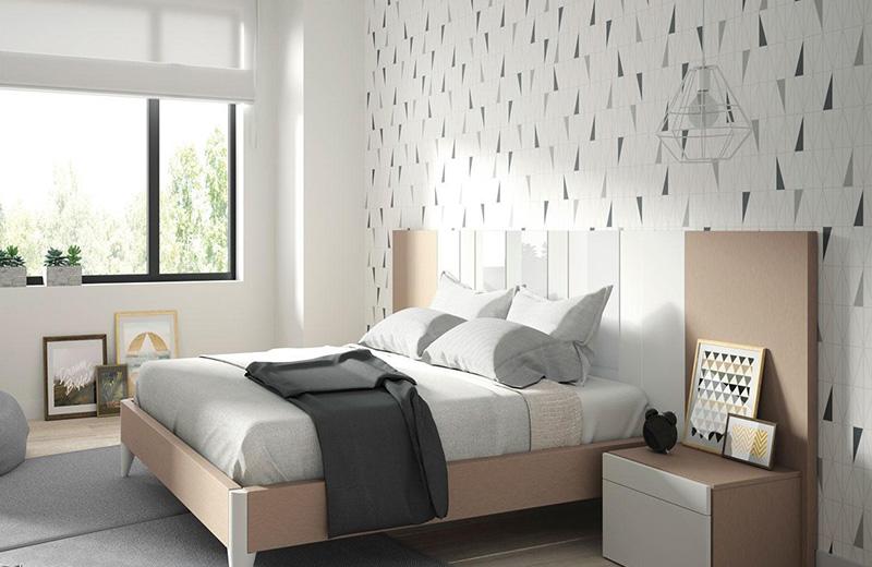 Cabecero papel pintado cheap decorar cama infantil sin cabezal cabecero papel pintado como sofa - Cabeceros papel pintado ...